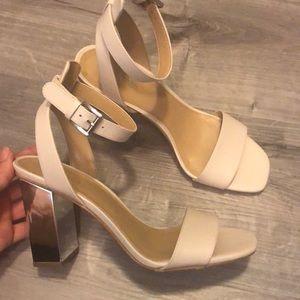 MICHAEL KORS nude heels w/ mirror heel